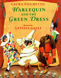 Harlequin and the Green Dress