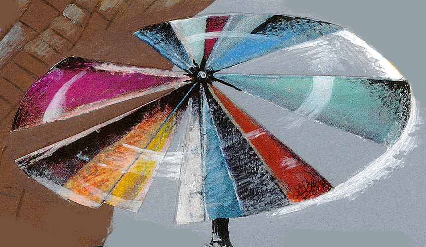 Robert Rauschemberg's umbrella